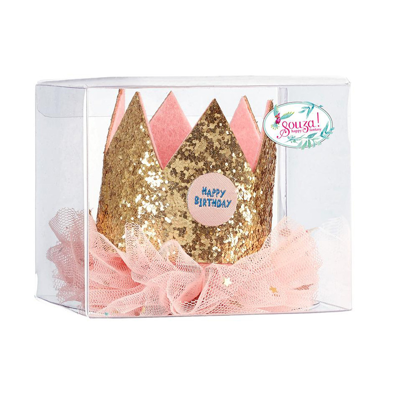Souza Birthday Crown Gold-Ruffle Giftbox 105676