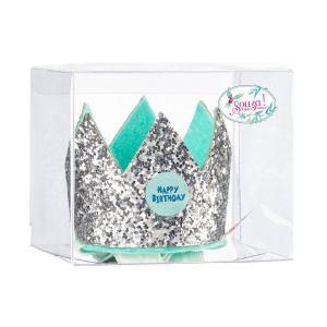 Souza Birthday Πιάστρα Μαλλιών - Κορώνα Ασημένια giftbox 105677