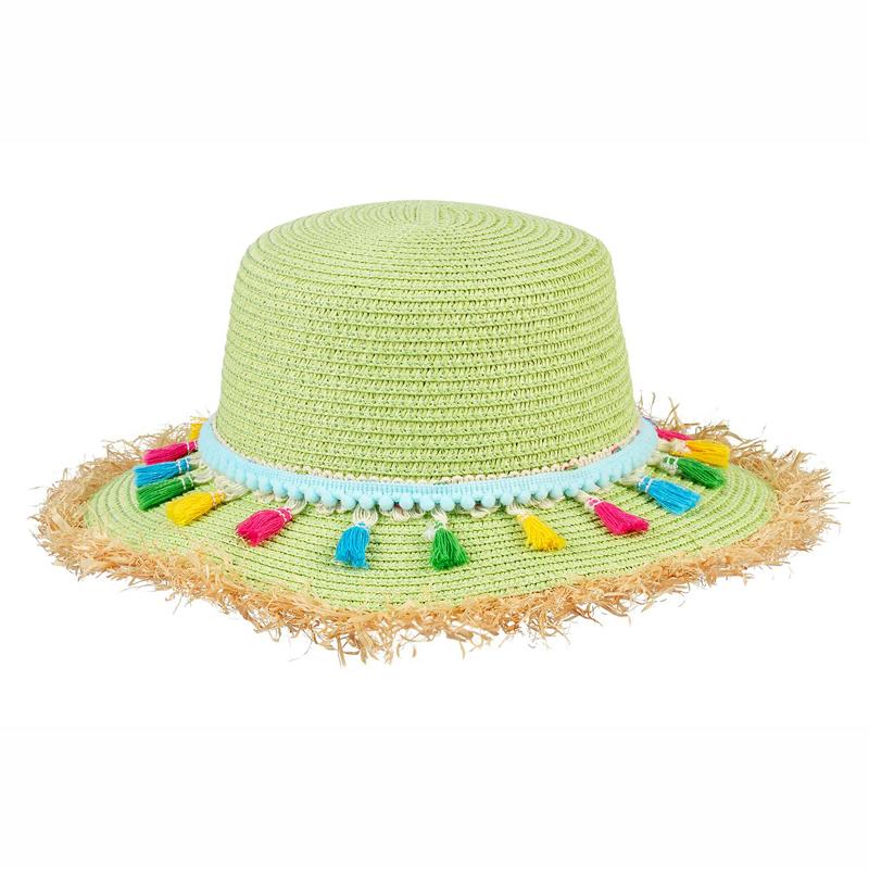 Souza Ψάθινο Καπέλο Chrissy Lime με κρόσια 105839