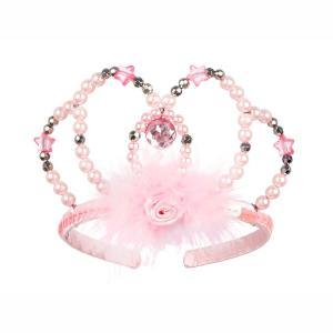 Souza Ροζ Στέκα - Κορώνα Liberty με ροζ χάντρες 111084