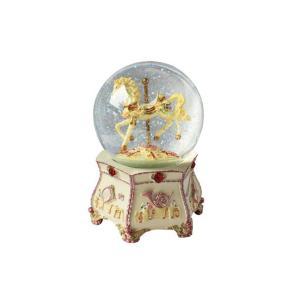 Glitter globe horse carousel 15005