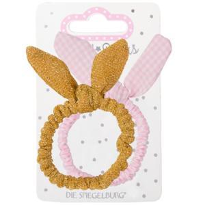 Die Spiegelburg Βραχιόλι Λαστιχάκι Μαλλιών Bunny Ears ροζ χρυσό