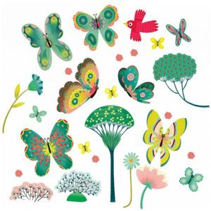 Djeco Αυτοκόλλητα Παράθυρου 'Πεταλούδες στον Κήπο' ( 176-05051)
