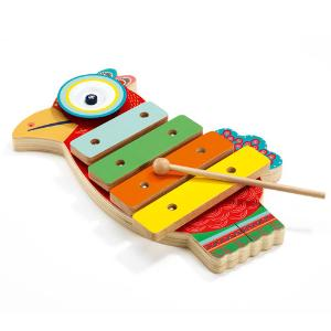 Djeco Μουσικό Όργανο Ξυλόφωνο με Κύμβαλα 'Παπαγάλος' (176-06018)