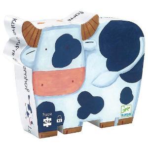 Djeco Παζλ σε Σχηματικό Κουτί 24 τεμ. 'Αγελαδίτσα στην Φάρμα' (176-07205)