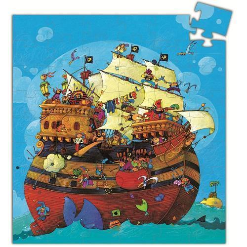 Djeco Παζλ σε Σχηματικό Κουτί 54 τεμ. 'Πειρατικό Καράβι' (176-07241)