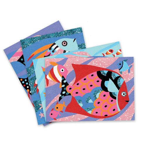 Djeco Χρωματίζω με Άμμο και Γκλίτερ 'Ψαράκια' (176-08661)