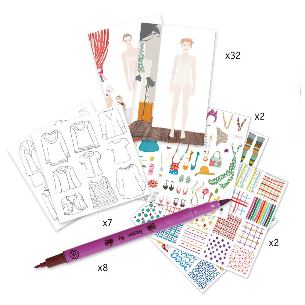 Djeco Ζωγραφική με Μαρκαδόρους 'Ατελιέ Σχεδιασμού Μόδας' (176-08731)