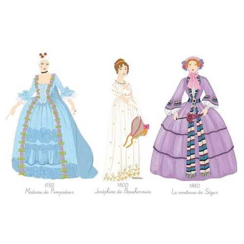 Djeco Ζωγραφική με Μαρκαδόρους και Νερομπογιές 'Φορέματα Εποχής' (176-08734)