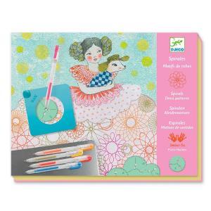 Djeco Σχεδιάζω και Χρωματίζω με Σπιράλ 'Μοτίβα σε Φορέματα' (176-08737)