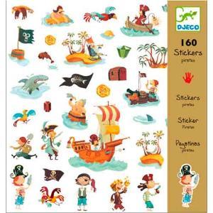 Djeco 160 Αυτοκόλλητα σε 4 Καρτέλες 'Πειρατές' (176-08839)