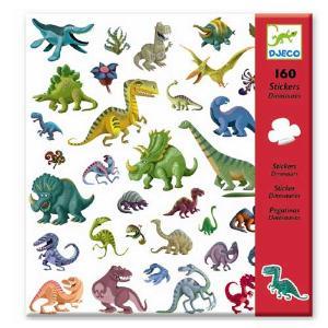 Djeco 160 Αυτοκόλλητα σε 4 Καρτέλες 'Δεινόσαυροι' (176-08843)