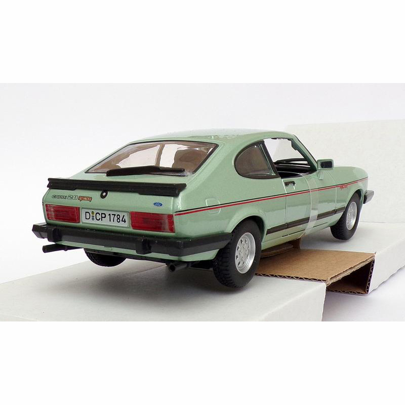 Burago 1/24 Scale Model Car 18-21093 - 1973 Ford Capri 2.8 Injection - Lt. Green