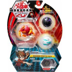Spin Master Bakugan Starter Pack Pyrus Gothion Set Of 3 Figures 20108789