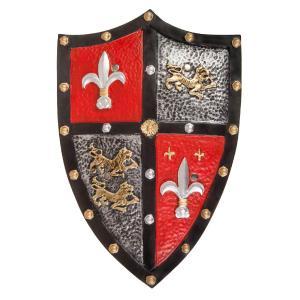 Great Pretenders Ασπίδα Ιππότη Πλαστική - εφέ Δέρμα 'Κόκκινη-ασημί' (292-14435)