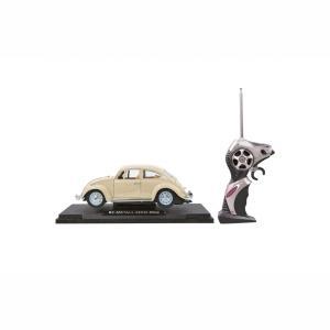 Jamara RC VW Beatle 1:18 Creme White 27MHz