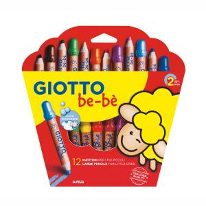 Giotto be-be Large Pencils Ξυλομπογιές 12 τμχ (466500)