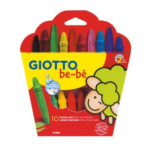 Giotto be-be Large Crayons Κηρομπογιές 10τμχ 466800