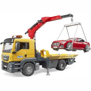 Φορτηγό MAN οδικής βοήθειας με γερανό & αυτοκίνητο 1:16 BR003750