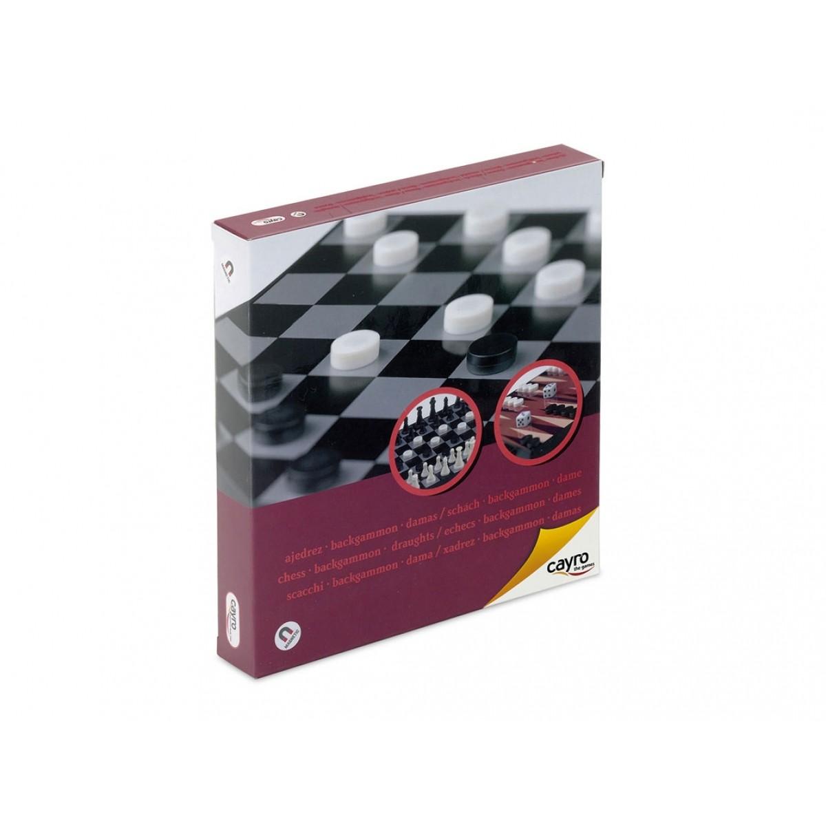 Κλασσικό Μαγνητικό Σκάκι- Ντάμα- Τάβλι (CA440)