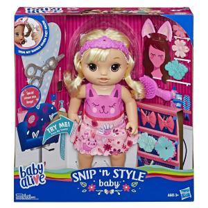 Hasbro Baby Alive Snip 'n Style Baby Blonde Hair E5241