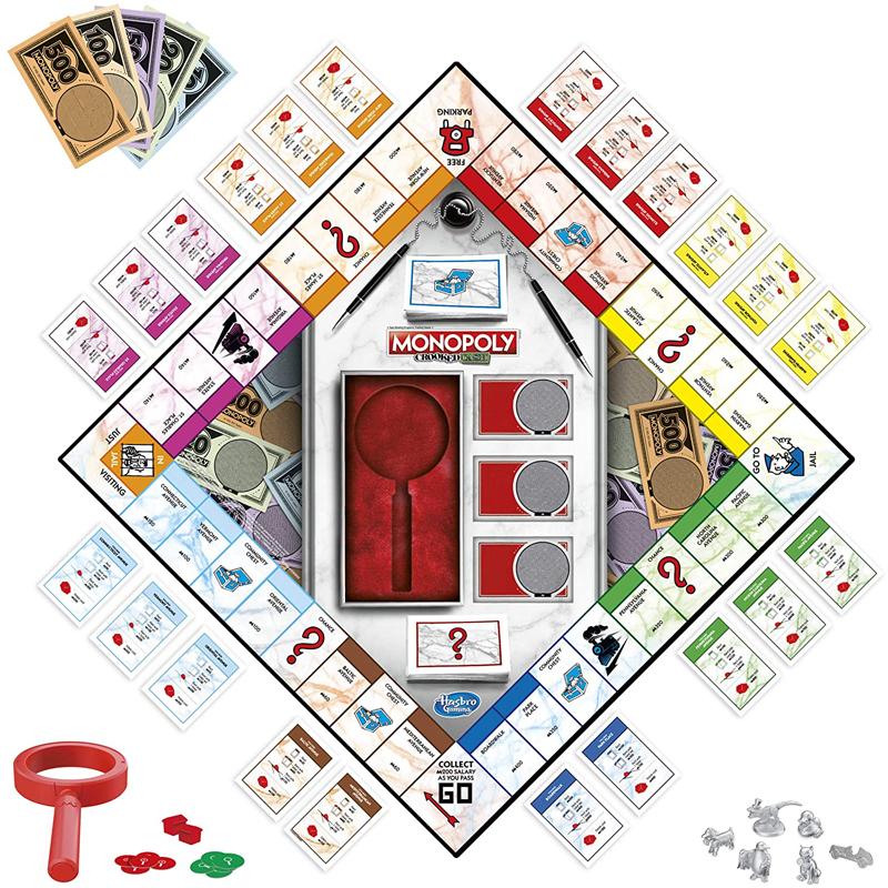Hasbro Επιτραπέζιο Monopoly Crooked Cash - Βρες τα Πλαστά F2674
