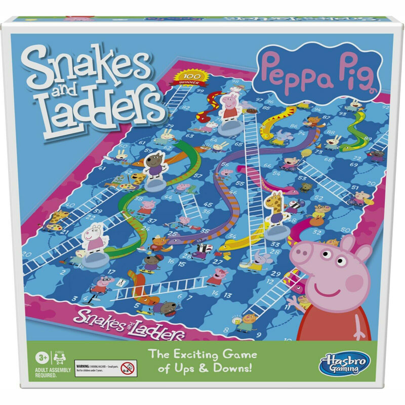 Hasbro Επιτραπέζιο Snakes and Ladders - Φιδάκι Peppa Pig F4853