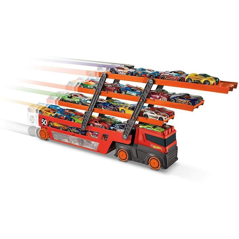 Mattel Hot Wheels Νέα Νταλίκα Γκαράζ Έξι Επίπεδων GHR48)