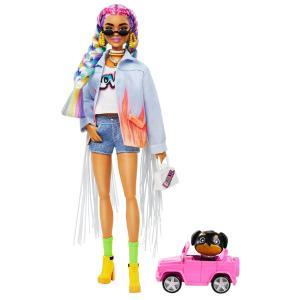 Mattel Barbie Extra Denim Jacket Oυράνιο Tόξο Mαλλιά GRN29
