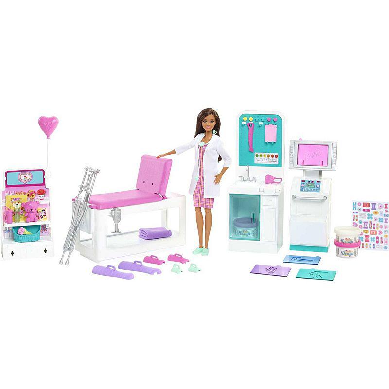 Mattel Barbie Σετ Κλινική με κούκλα GTN61