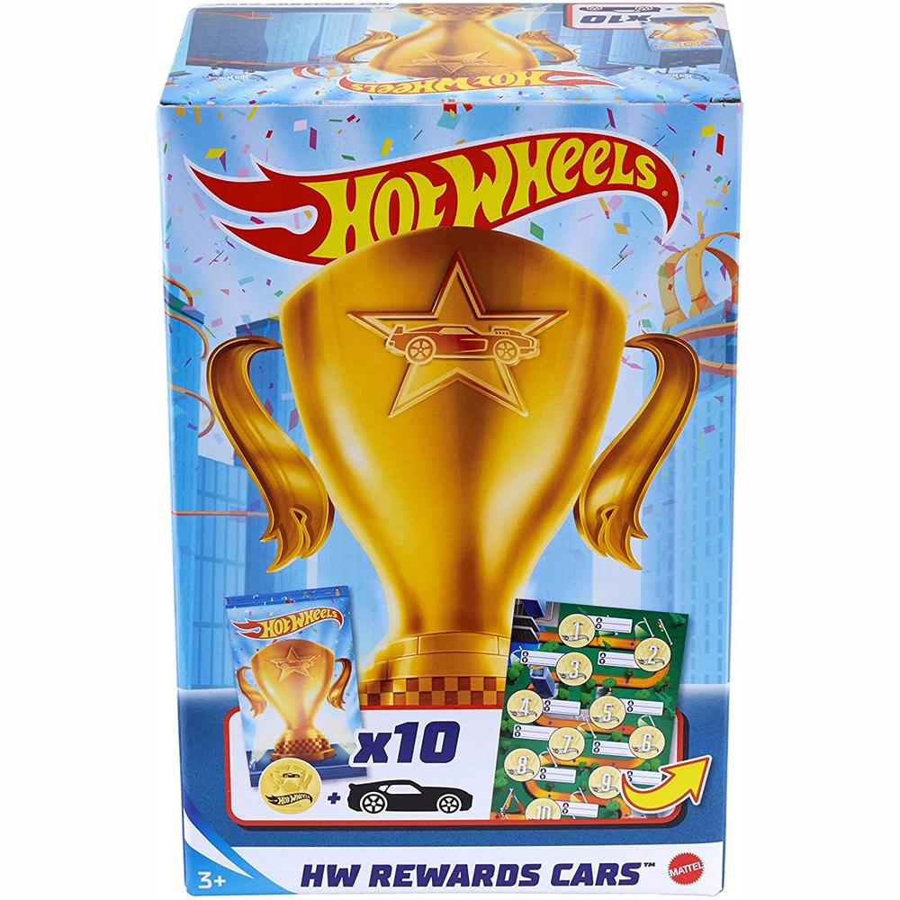 Mattel Hot Wheels Αυτοκινητάκια Rewards Cars - Σετ Των 10 GWN97