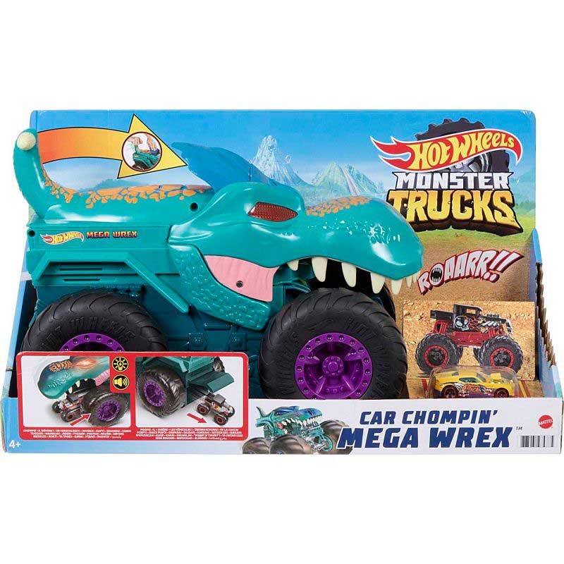 Mattel Hot Wheels® Monster Trucks Car Chompin' Mega-Wrex® Vehicle (GYL13)