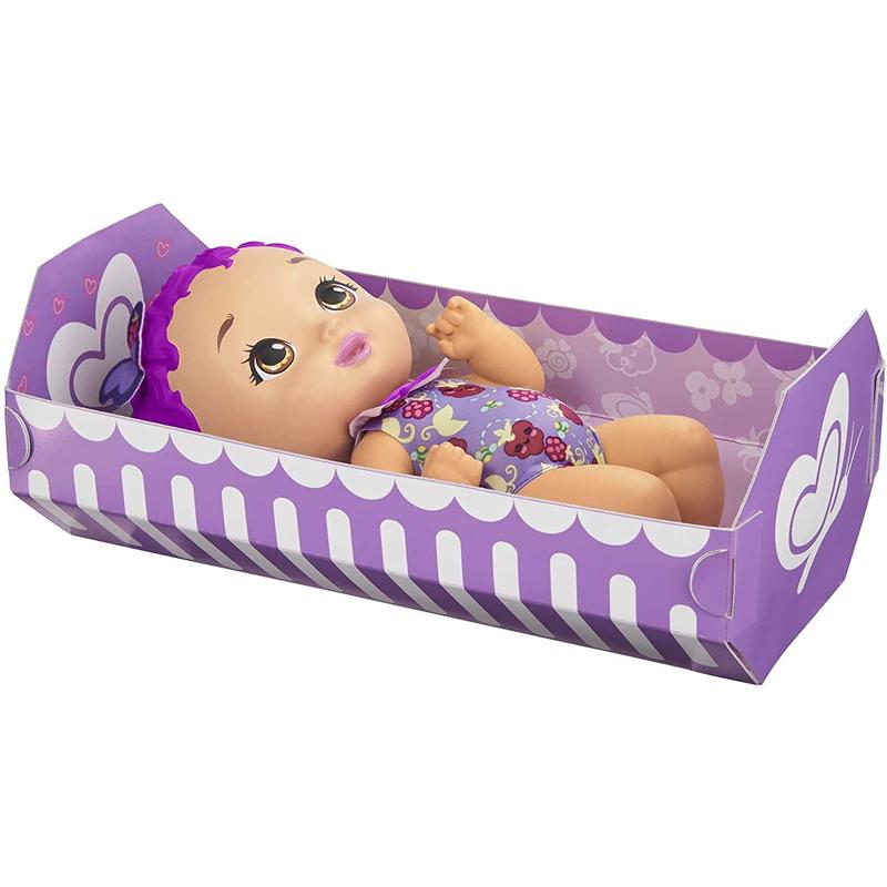 Mattel My Garden Baby Μωράκι 30cm- Ώρα για Φαγητό Μωβ Μαλλιά (GYP00)