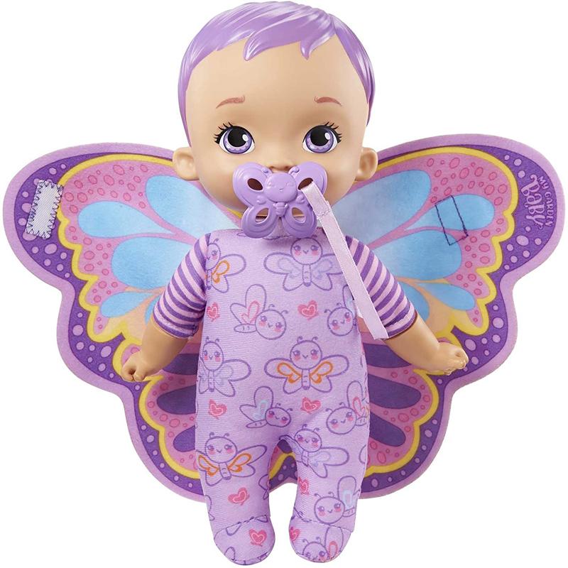 Mattel My Garden Baby Butterfly- Το Πρώτο μου Μωράκι 23cm Μωβ Μαλλιά- HBH39