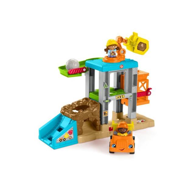 Fisher Price Little People- Εργοτάξιο Σετ Παιχνιδιού με Ήχους (HCJ46)