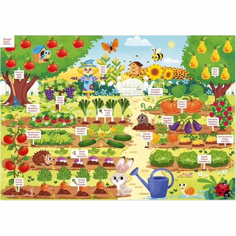Janod Μαγνητικό Εκπαιδευτικό Παιχνίδι Κήπος J05463