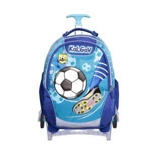 Kalgav Τσάντα Δημοτικού Trolley 3D Ποδόσφαιρο Γαλάζια KG0071
