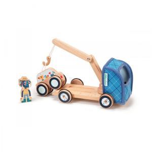 Lilliputiens - Ξύλινο όχημα-γερανός Ignace 83232