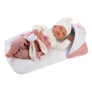 Μωρό Llorens Newborn με  Ροζ Sleeping Bag 44εκ. (LIO-84436)