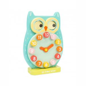 Le Toy Van Ξύλινο Ρολόι Owl PL010