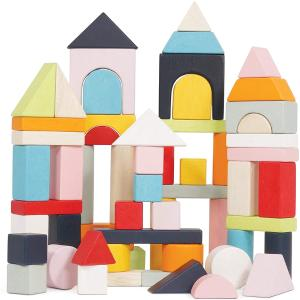 Le Toy Van Τσάντα με Ξύλινα Τουβλάκια Building Blocks 60τεμ PL135