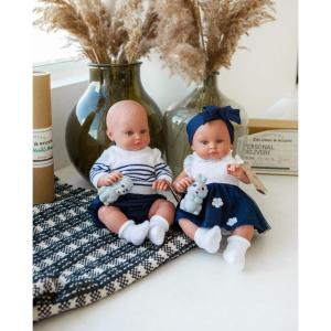 Magic Baby Dolls Alicia Blue Bow (MB46022)