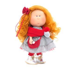 Nines D'Onil Κούκλα Mia με Κόκκινο Κασκόλ (NDO-3052)