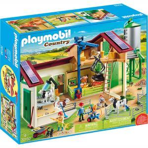 Playmobil Μεγάλη Φάρμα με ζώα και σιλό 70132