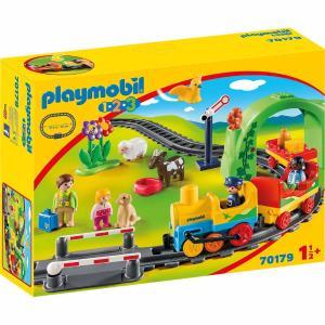 Playmobil Σετ Τρένου 1.2.3 με ζωάκια και επιβάτες