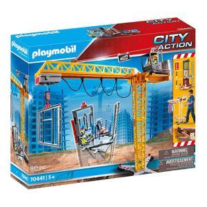 Playmobil Ανυψωτικός γερανός βαρέως τύπου με τηλεχειριστήριο και σκαλωσιές