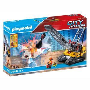 Playmobil Γερανός κατεδάφισης με ερπύστριες και δομικά στοιχεία