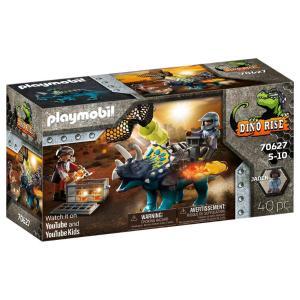 Playmobil Τρικεράτωψ με πανοπλία-κανόνι και μαχητές 70627
