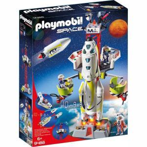 Playmobil Πύραυλος Διαστημικής Αποστολής με Σταθμό Εκτόξευσης