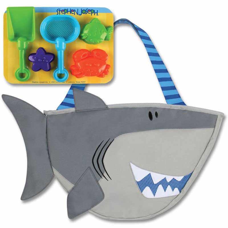 Stephen Joseph Παιδική τσάντα παραλίας με παιχνίδια Shark SJ100380